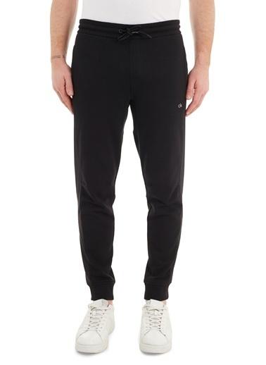 Calvin Klein Calvin Klein K10K106467 Belden Bağlamalı Pamuk Regular Fit  Erkek Eşofman Altı Siyah